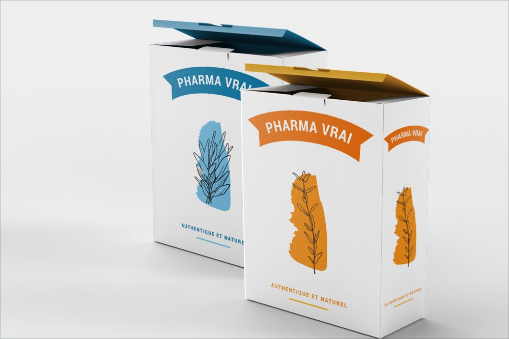 Packaging graphique boites pharmacie
