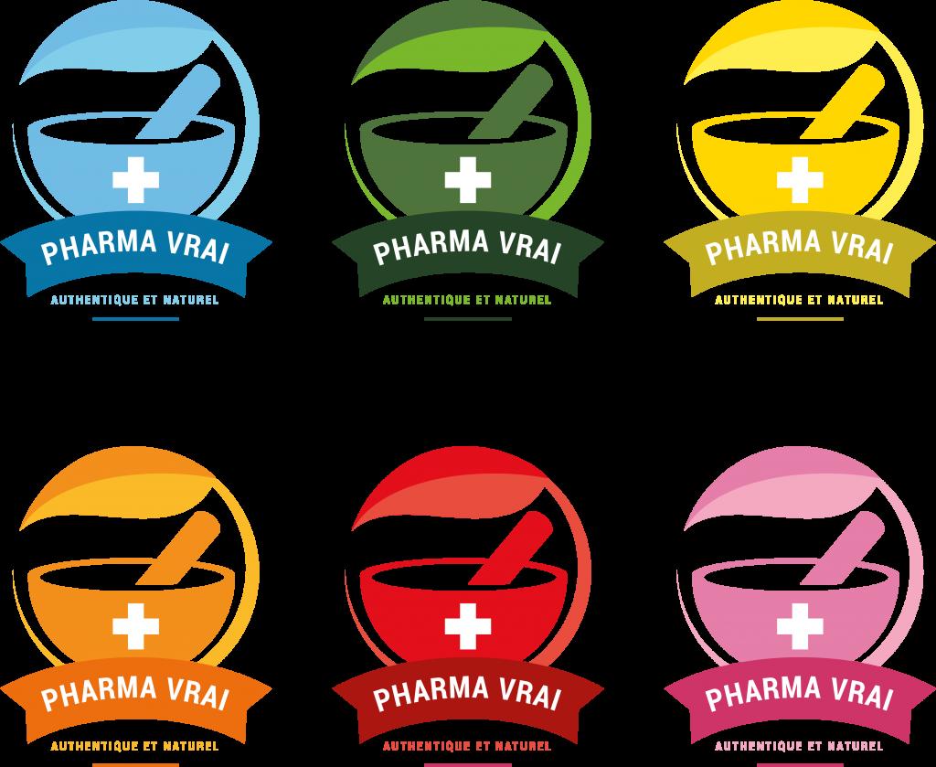 Déclinaisons logo 6 couleurs préparations médicales