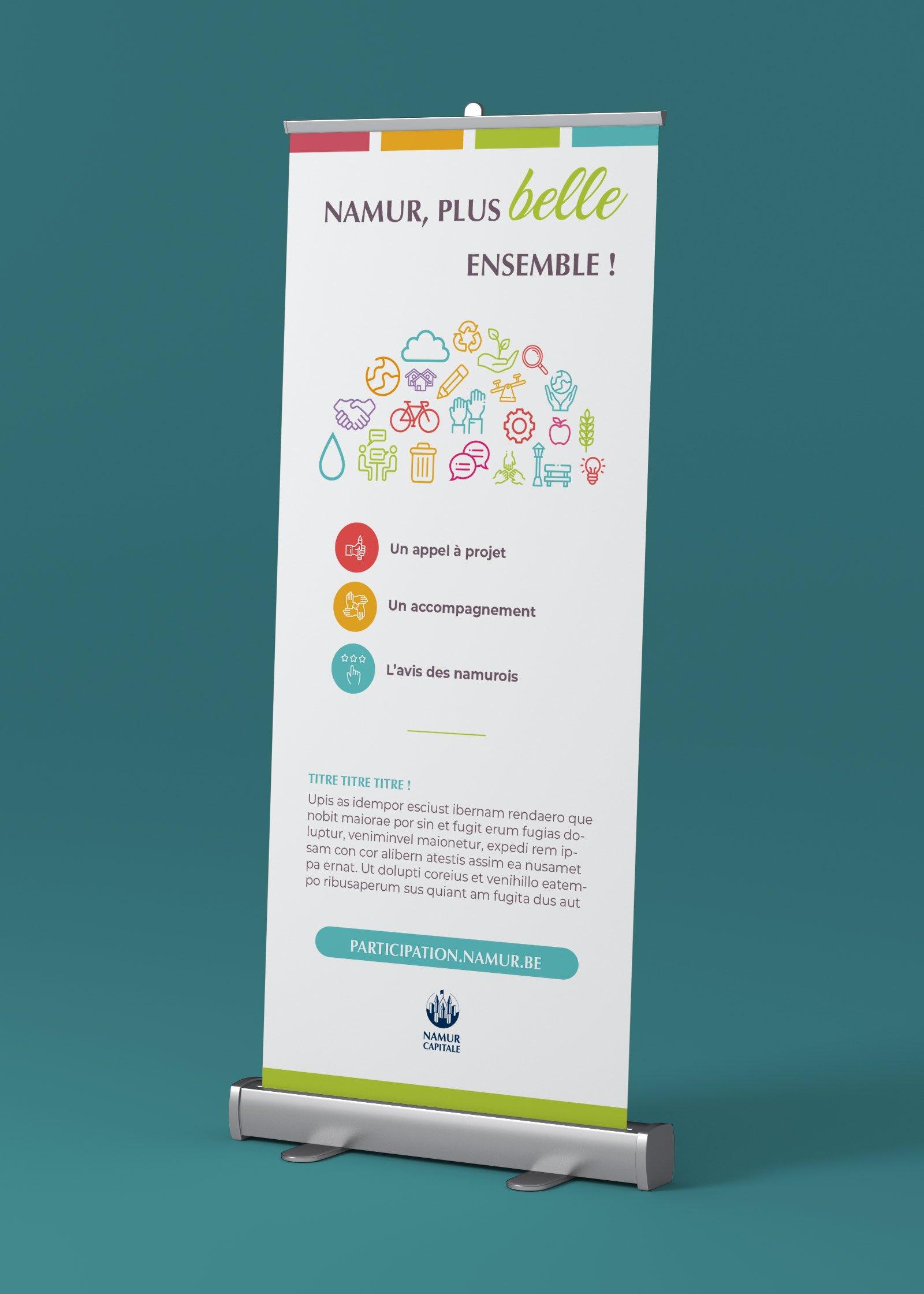 Création de rollup Namur